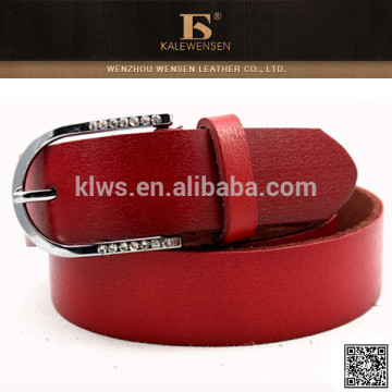 Factory direct sales excellent red belts with diamonds