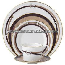 Фарфоровая серебро микроплатина casserole классический дизайн фарфоровая керамическая посуда
