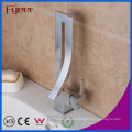 Fyeer Fashion Design Square High Body Chrome Plated Single Handle Brass Basin Faucet Water Sink Mixer Tap Wasserhahn