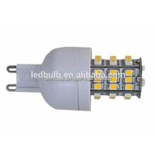 2015 NOUVEAU CE et ROHS base en céramique 96 Pcs 3014 SMD G9 ampoules LED, 3 ans de garantie