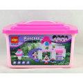 127pcs diy princesa bloco edifício brinquedos para crianças