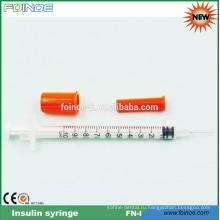 пластичный устранимый шприц инсулина