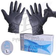 Cheap Tattoo Glove Large Disposable Tattoo Glove Black Nitrile Tattoo Gloves 50 Pairs