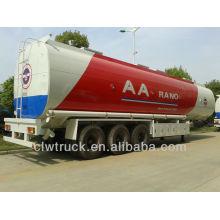 El semirremolque de tanque de aceite tri-eje 50tons más grande capacidad