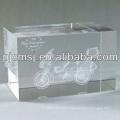 Atacado Um Corte De Canto K9 3d Gravado A Laser Cubo De Cristal Para Presente de Aniversário