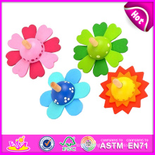Flower Style Wooden Top Baby Toy W01b009