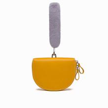Furry purse hobo bag clutch bag