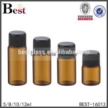 5 ml 10 ml ambre vis haut verre bouteille de parfum taille différente e liquide vis haut verre bouteille de parfum cosmétique emballage