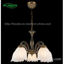 European Design Glass Pendant Light&Crystal Die-Casting Chandelier (D-8105/5)
