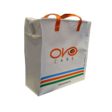 4 Color 90g White Non Woven Carry Bag, Reusable Shopping Bags With Matt Lamination