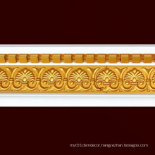 W13cm PS White/Gold Crown Mouldings Cornice Building Material