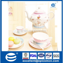Wholesale Royal tea Set In China,Bsci Certificated Wholesale Porcelain tea Set,Ceramic tea Set/tableware Dinnerware