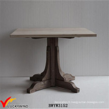 Table de salle à manger en piétinière en bois massif Farm Chic 4 Seaters Square