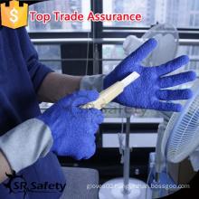 SRSAFETY crinkle latex coated anti-cut performance handling full gloves
