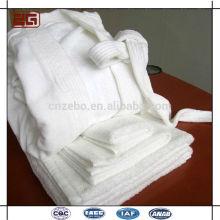 Vente en gros Shawl Collar Luxury 100% Cotton w Hotel Bathrobe