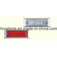 Прямоугольная форма Красная и прозрачная боковая маркерная лампа