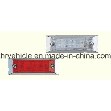 Lâmpada Rectangle Forma Vermelho e Clear Side Marker