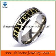 Anel incrustado com jóias de corpo de aço inoxidável de moda (SSR2788)