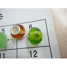 Hot sale Big hole 14x8mm glass beads