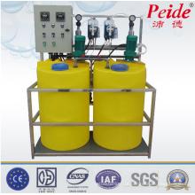 Sistema de dosagem de produtos químicos sob medida para água gelada