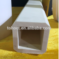 Square end hole 99% Al2o3 alumina ceramic pupe tube