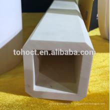 Trou d'extrémité carrée 99% Al2o3 alumine céramique pupe tube