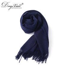 Innere Mongolei Neueste Schal Designs Türkei Favorit Navy Blue Cashmere Schal