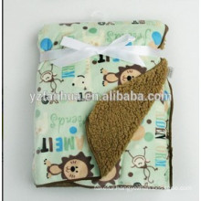 Warm animal designs Kids Baby Infants Sherpa Blankets