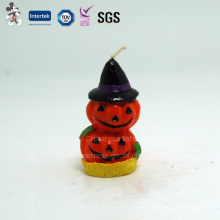Decoración calabaza en forma de vela de Halloween