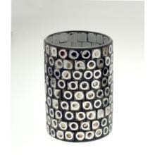 Cilindro de vidro novo do projeto do candelabro do mosaico do projeto