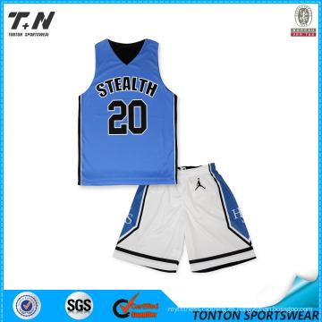 2015 Uniformes reversibles de la baloncesto de la sublimación de la aduana caliente de la venta