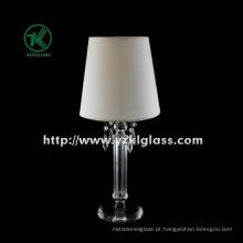 Único titular de vela de vidro para decoração do partido com lâmpada (DIA9 * 27)