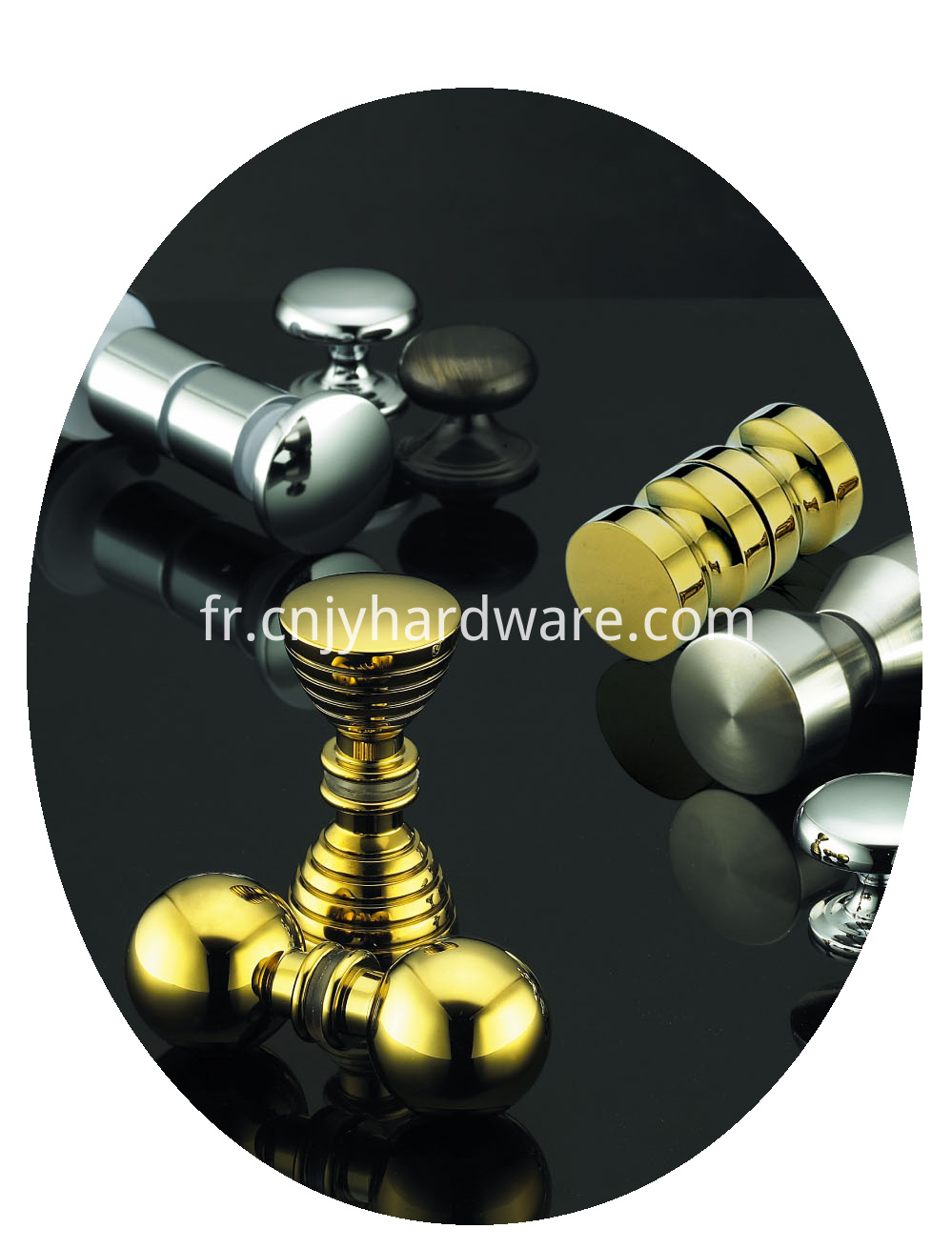 Metal alloy Brushed Nickel Door Knobs