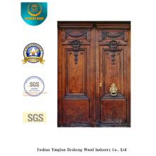 Porta de segurança dupla estilo europeu com escultura (m2-1007)