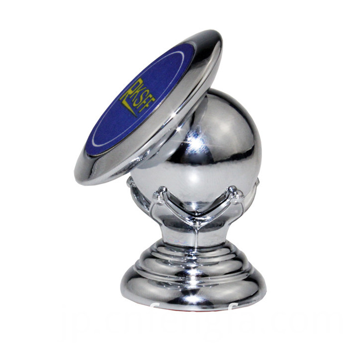 360 Rotating Magnetic Car Phone Holder Silver