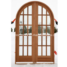 Round Top Double Frech Door with Glass
