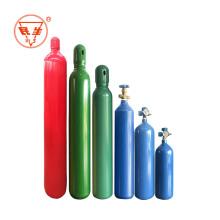 Tanque de cilindro de gas de oxígeno con caudalímetro de reguladores