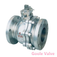Flanged 2 PCS Cast Steel Floating Ball Valve (Q41F)