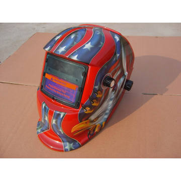 Rojo diseño de moda seguridad de soldadura casco sts2 filtro