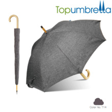 2018 New hotsale Black Melange yam texture wooden umbrellas 2018 New hotsale Black Melange yam texture wooden umbrellas
