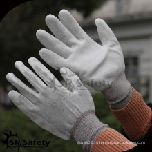 SRSAFETY 13g нейлон и углеродный волокнистый вкладыш с покрытием PU ESD рабочая перчатка