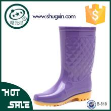 женщины плоские ботинки дождя дамы модные ботинки дождя