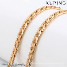 43280 -Xuping banhado a ouro longo 18k jwelleries colar