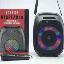 ZQS6125 Fashionable Outdoor Sports Karaoke System Trolley Speaker For Small Party