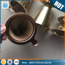 Edelstahl Kaffeelöffel / Kegel Kaffee Tropf / übergießen Kaffee Tropf mit Rose goldene Farbe