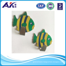 Stainless Steel Self Adhesive Stick Wall Hook (fish pattern design)