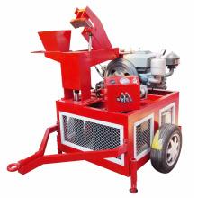 Bewegliche Ineinander greifenlehmziegelsteinmaschine kleine Dieselfertigungsanlage in Südafrika