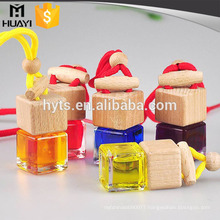 square glass refillable car perfume bottle hanging