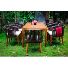 Chaise de salle à manger en acrylique et en rotin en acrylique pour jardin extérieur