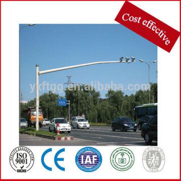 Polo de acero galvanizado del monitor, poste de la señal de tráfico